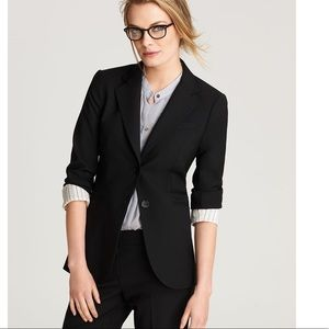 Theory black wool size 8 lined blazer